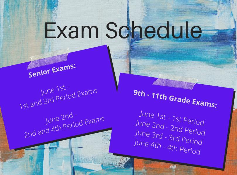 Exam Schedule 2021 = Spring