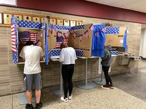 HS Students vote on Election Day