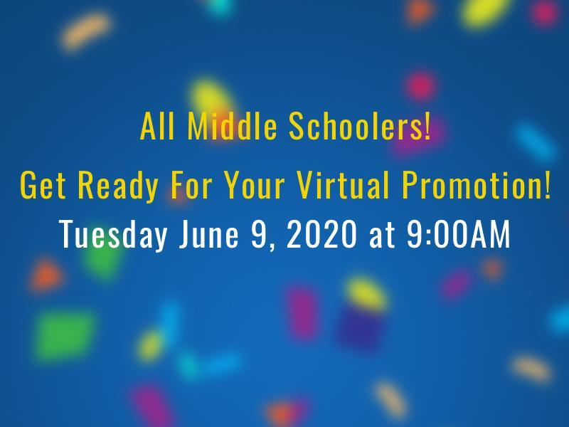 middle school promotion information