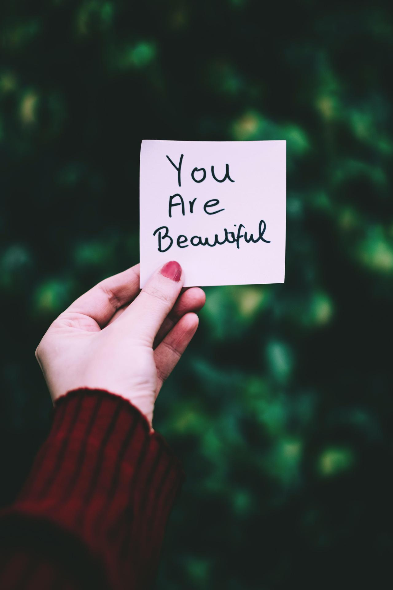 You are beautiful message