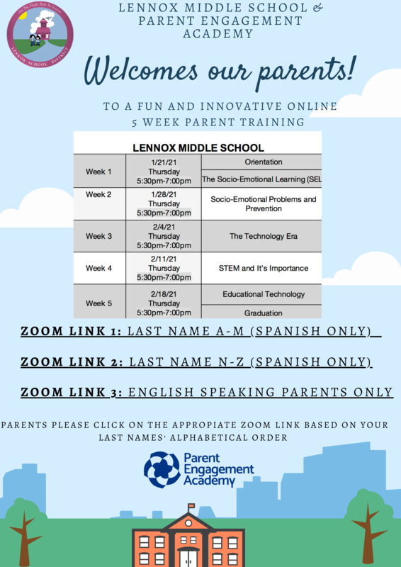 English Flyer for Parent Training