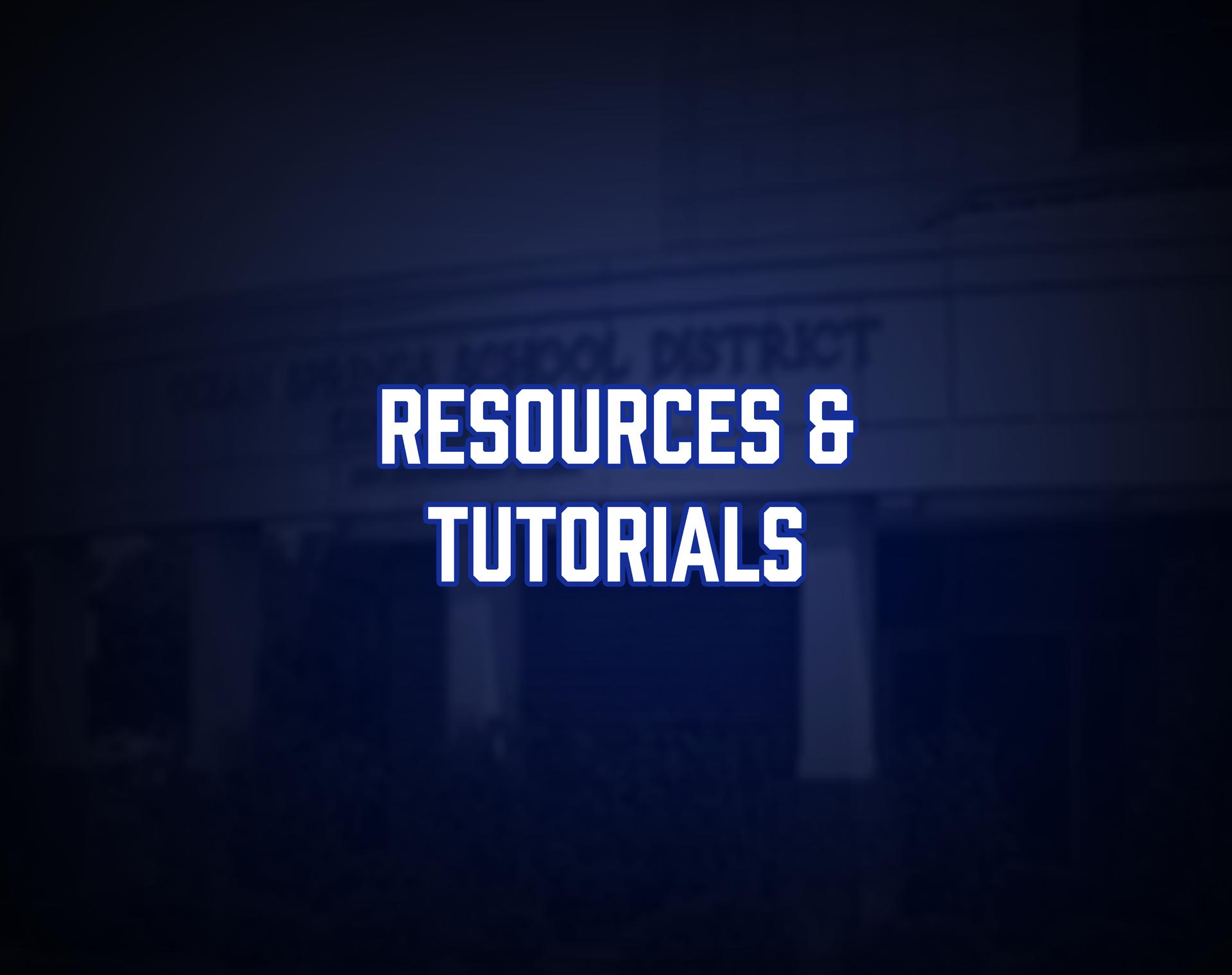 Resources & Tutorials Tile