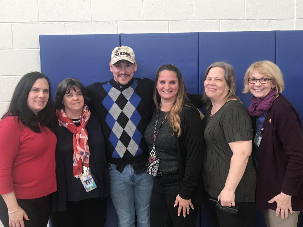 gilmore teachers & staff with marine