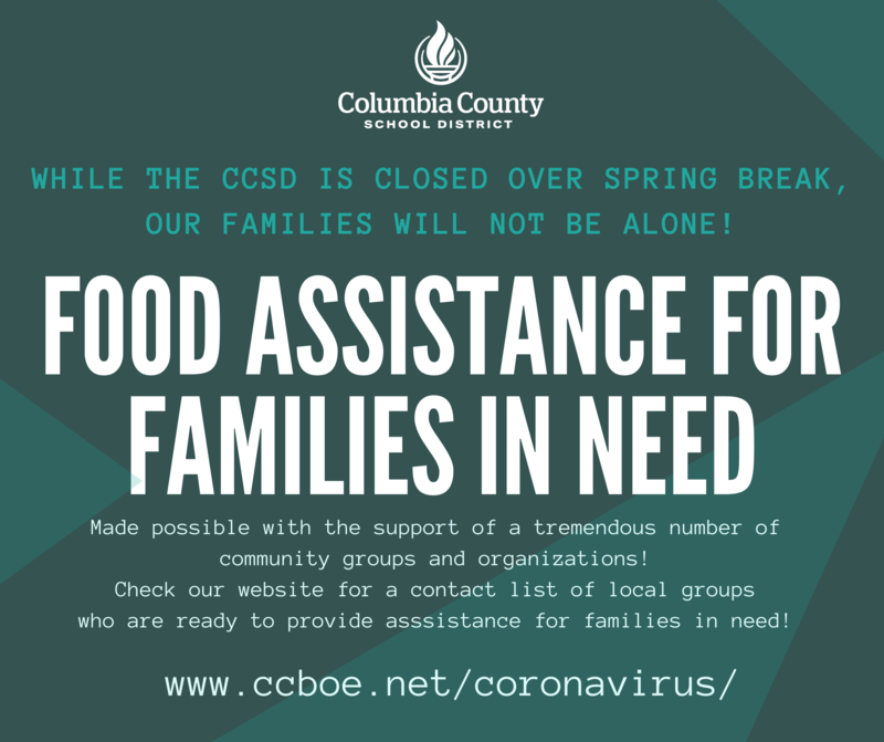 Food assistance for families in need info graphic