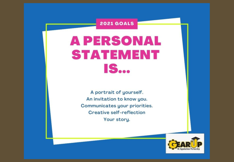 Gear Up Personal Statement