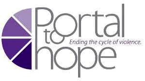 Portal to Hope logo, with purple-colored shapes