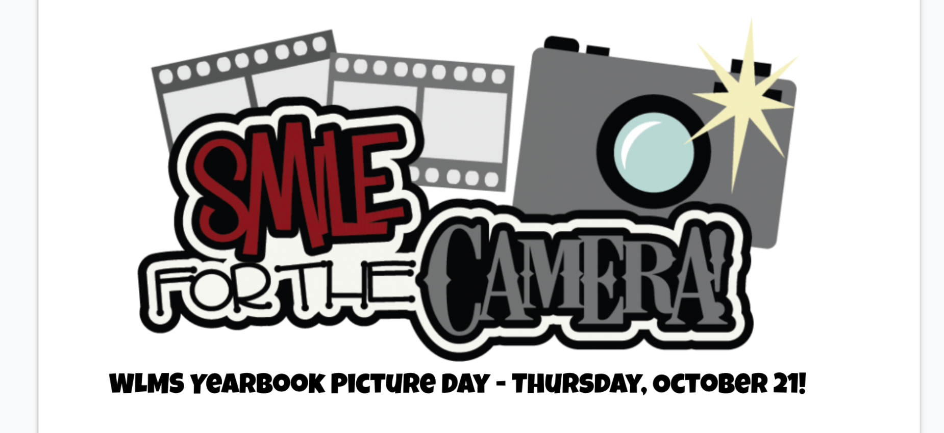 Picture day is October 21