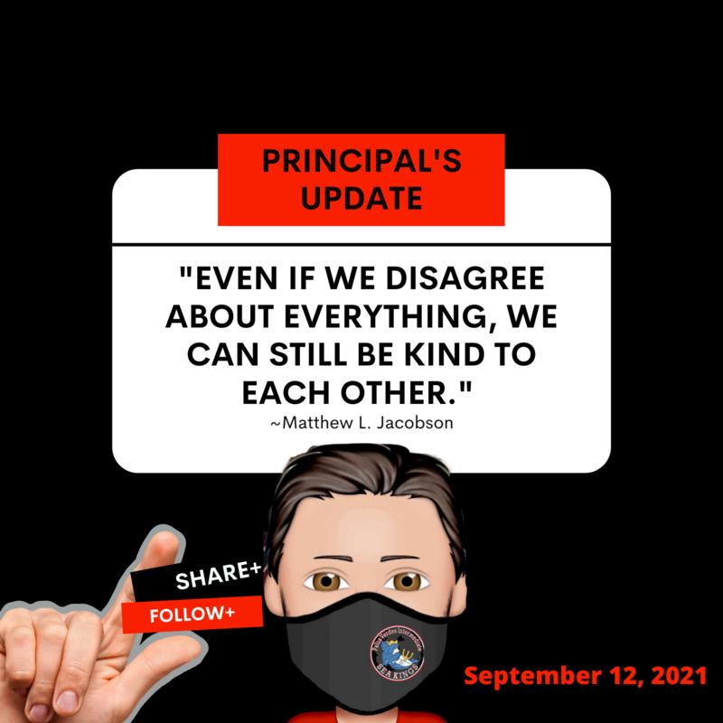 Principal's Update | September 12, 2021 Thumbnail Image