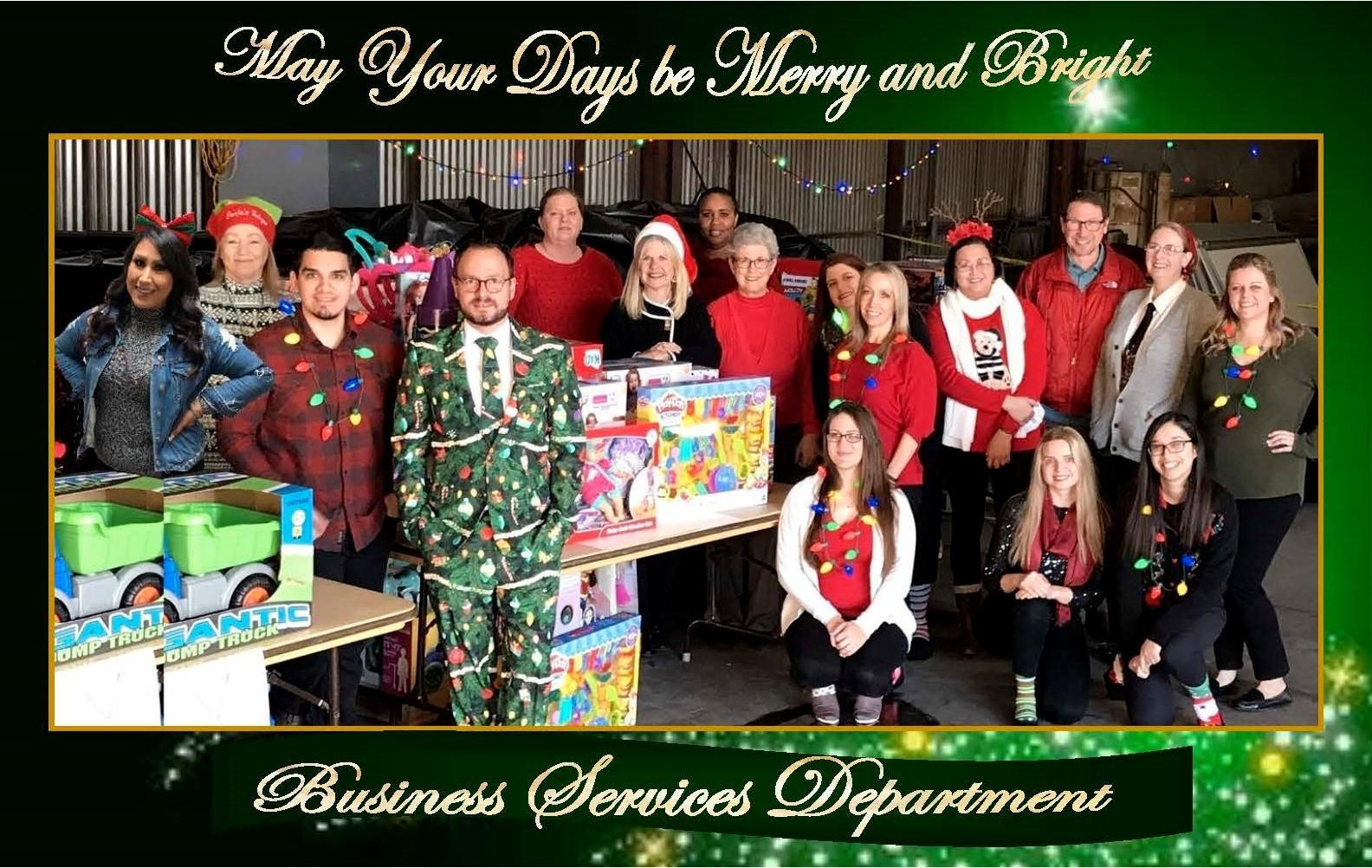 Business Services Group Christmas Photo