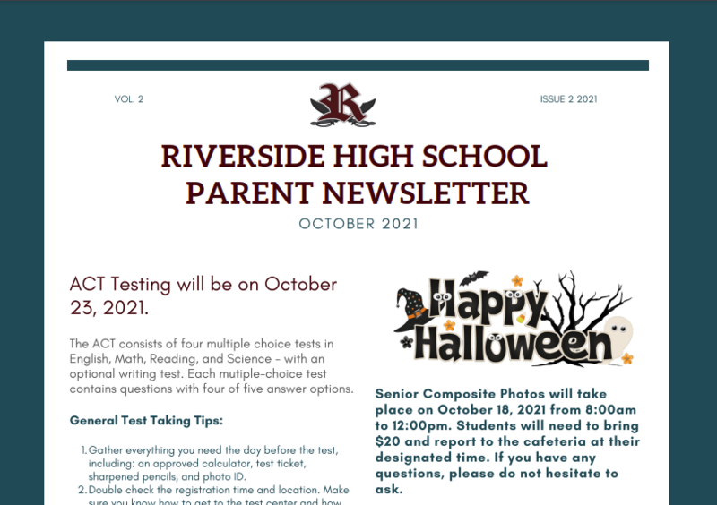 RHS October Newsletter Featured Photo