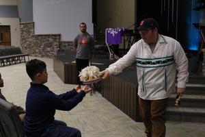 gva student and native american artifact