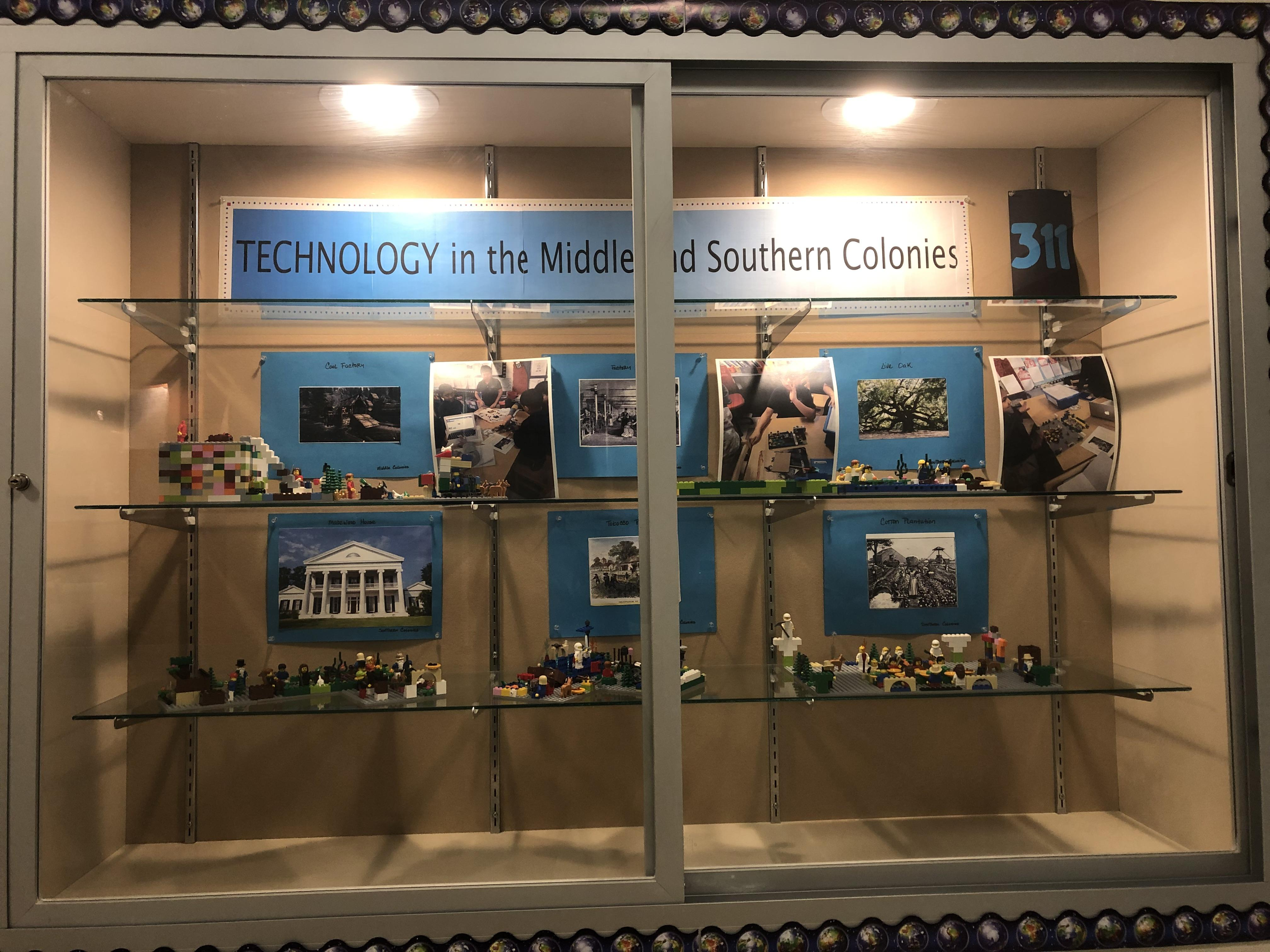 technology in the middle & southern colonies display