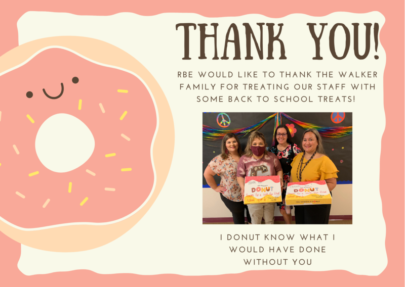 Donut Donation to Staff
