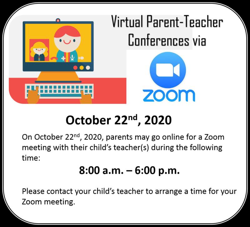 Virtual Parent Teacher Conferences October 22nd . Thumbnail Image