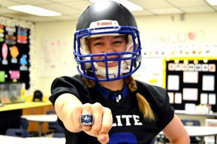 North Ridge Teacher Plays Professional Football