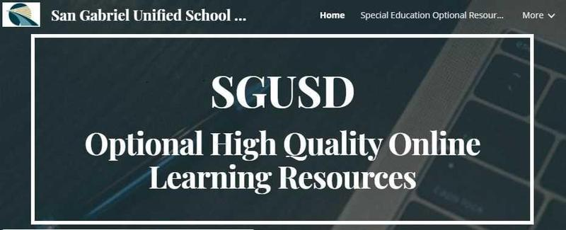 SGUSD Optional High Quality Online Learning Resources