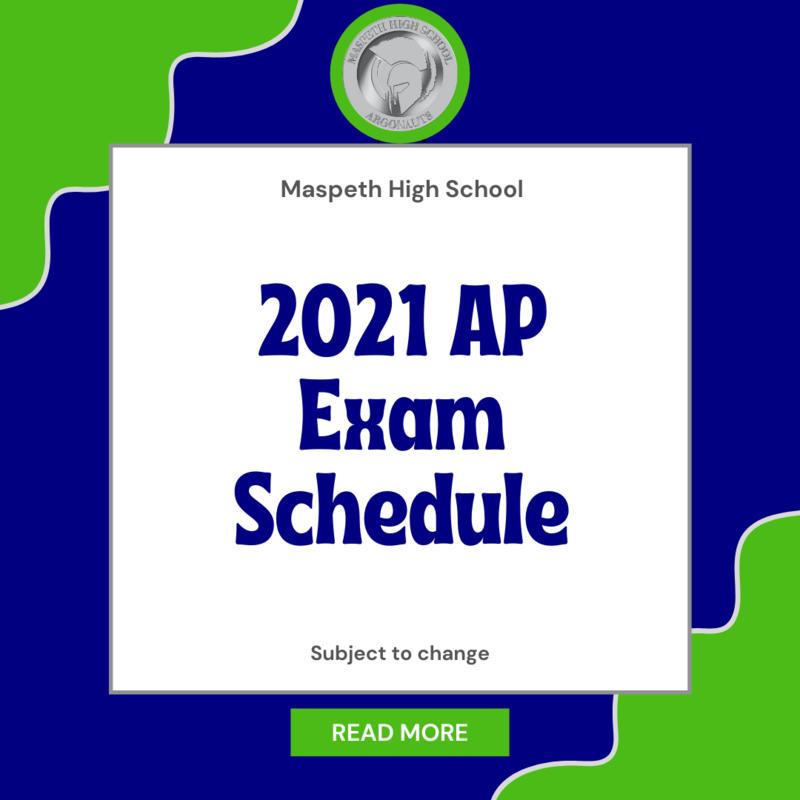 2021 AP Exam Schedule
