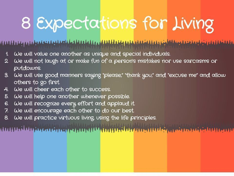 8 expectations