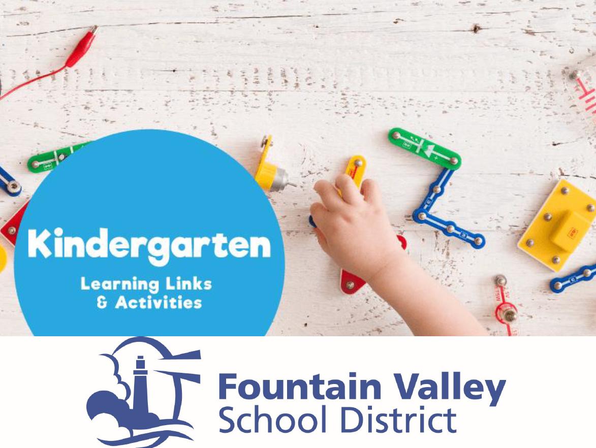 Kindergarten Summer Learning Resources