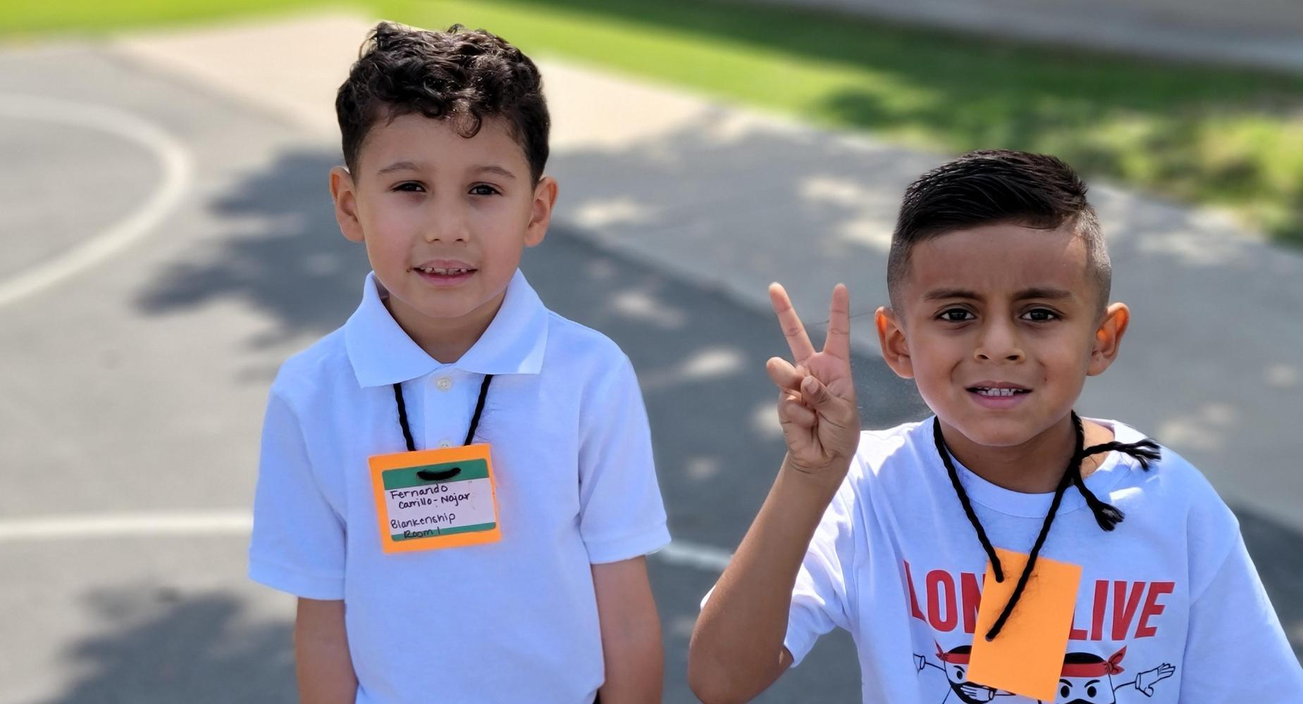 Two Boys Enjoying Recess