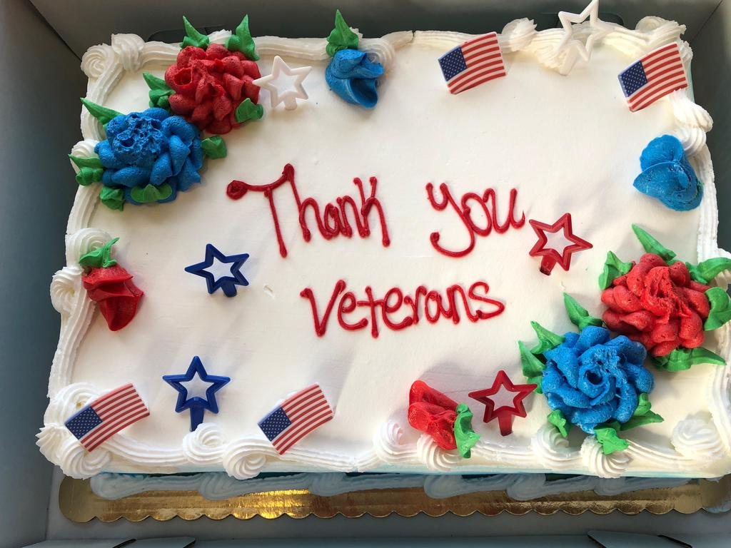 thank you veterans cake