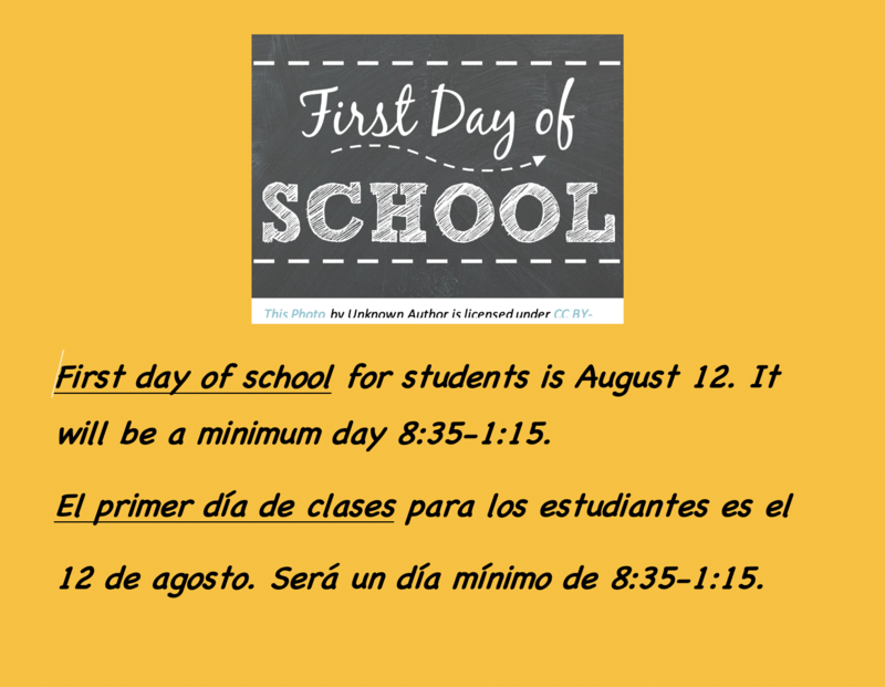 FIRST DAY OF SCHOOL AUGUST 12 Featured Photo