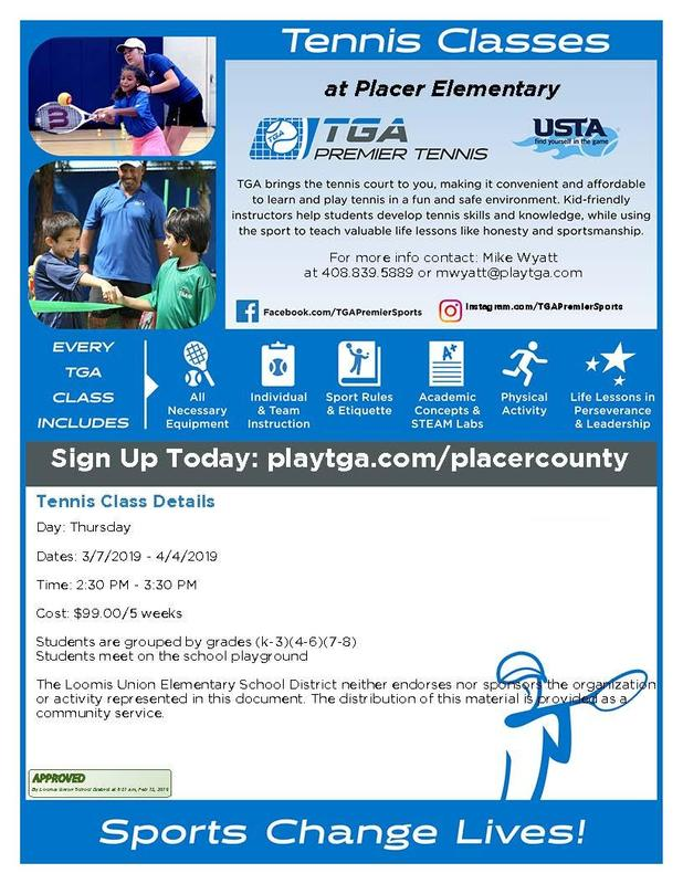 TGA Tennis Classes for K-8 Featured Photo