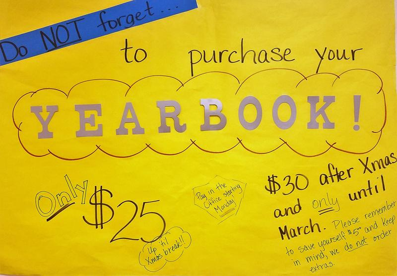 Reminder!  Purchase Yearbooks Before Christmas! Thumbnail Image