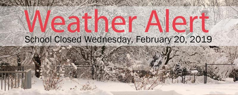 School Closed Today, Wednesday, February 20, 2019 Featured Photo