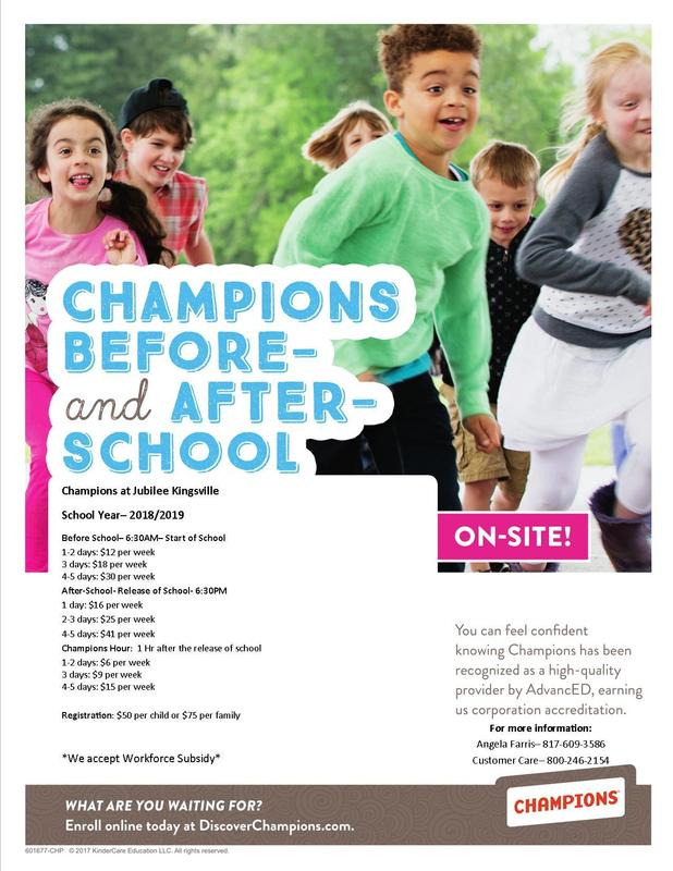 Champions Before & After School Care