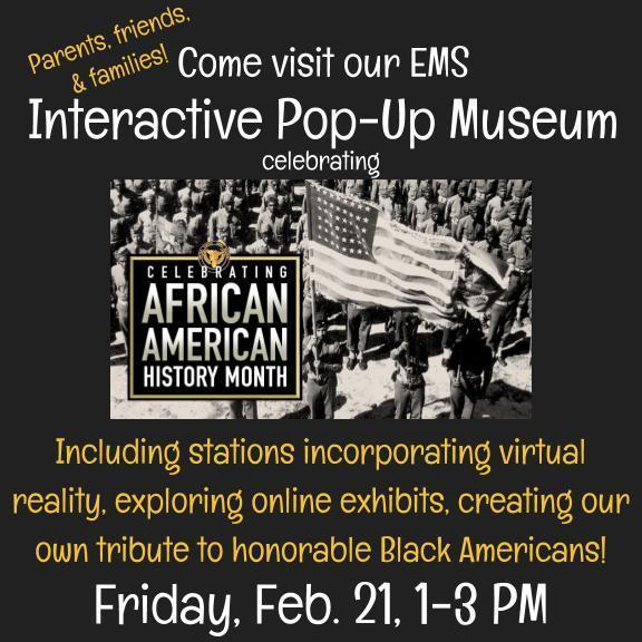 AAHM Pop Up Museum Evans Middle School