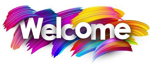welcome sign with many colors