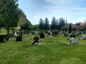 Eighth graders from TKMS decorated graves at three cemeteries prior to the Memorial Day holiday.