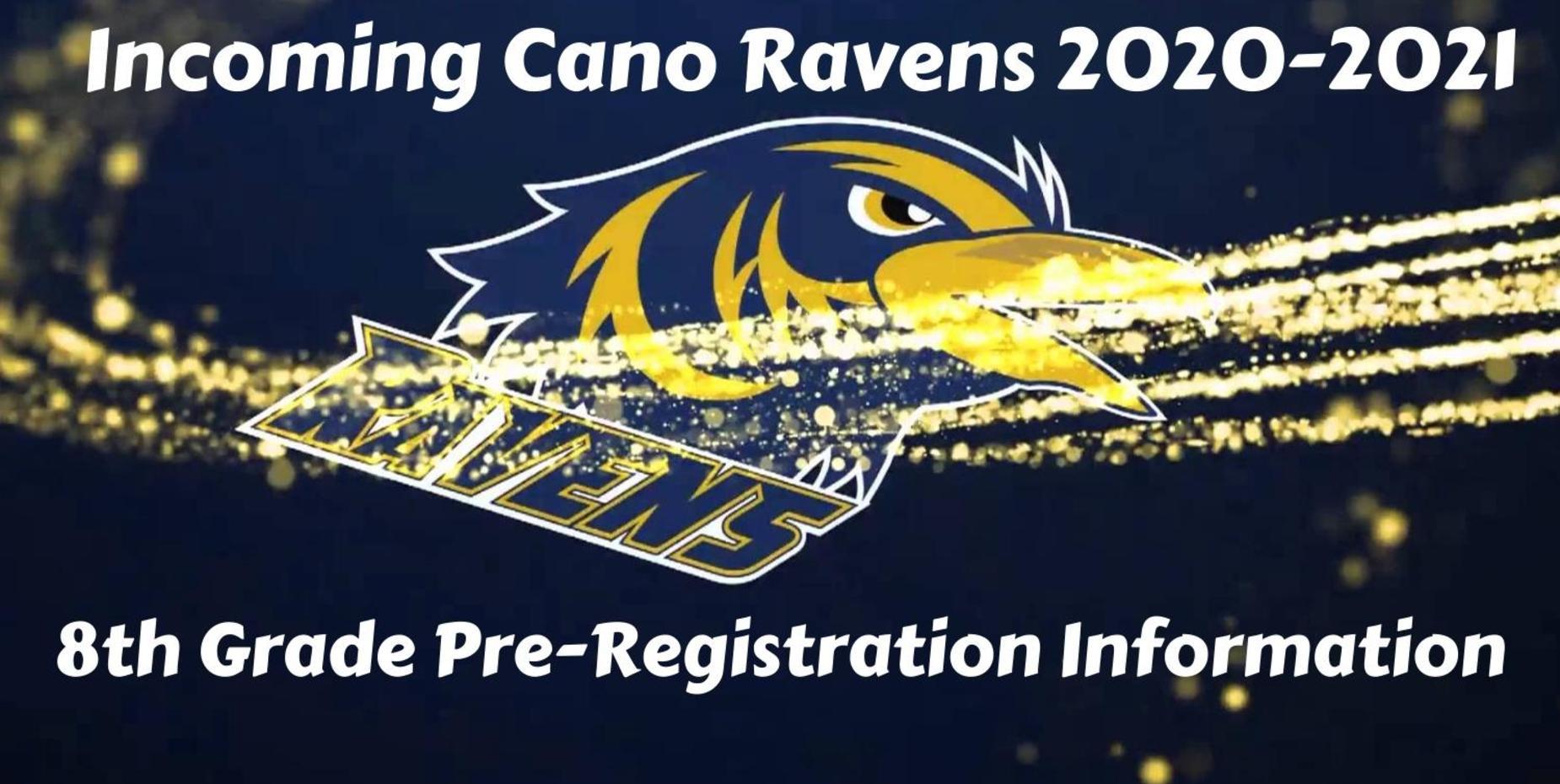 8th Grade Pre-Registration Schedule