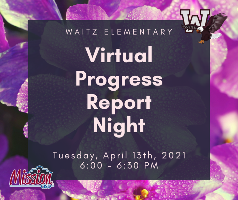Progress Report Night April 13th - 6:00-6:30pm