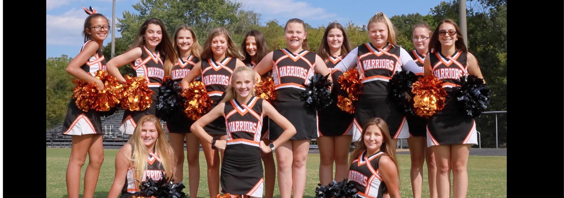 CMS fall cheerleading team
