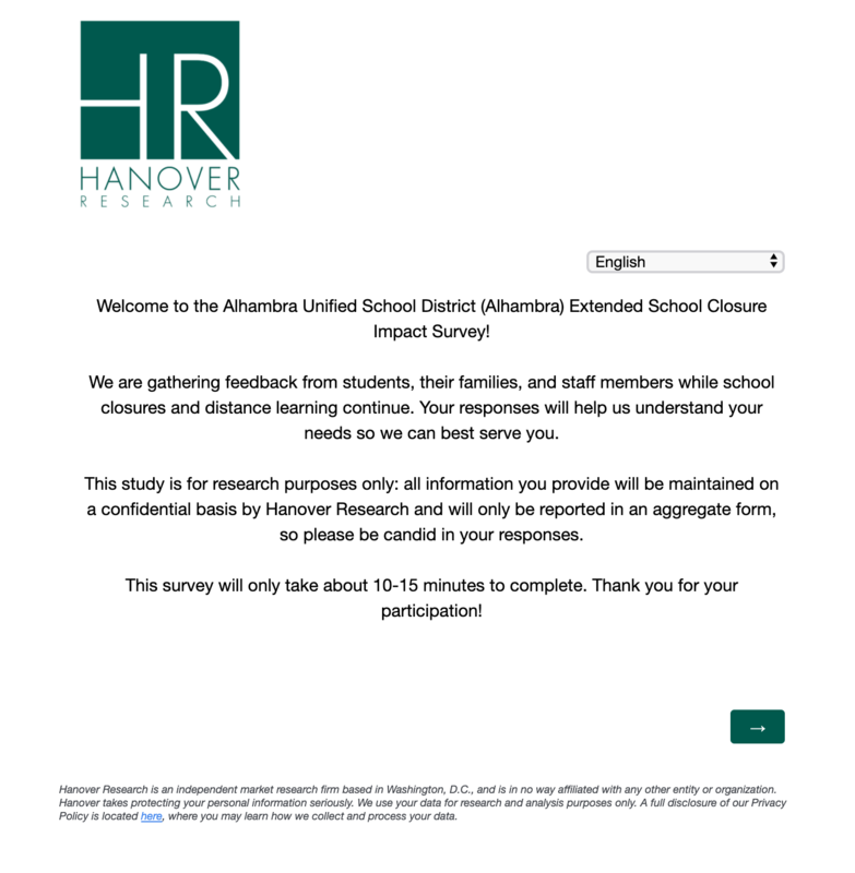 Click Here for the Extended School Closure Survey Featured Photo