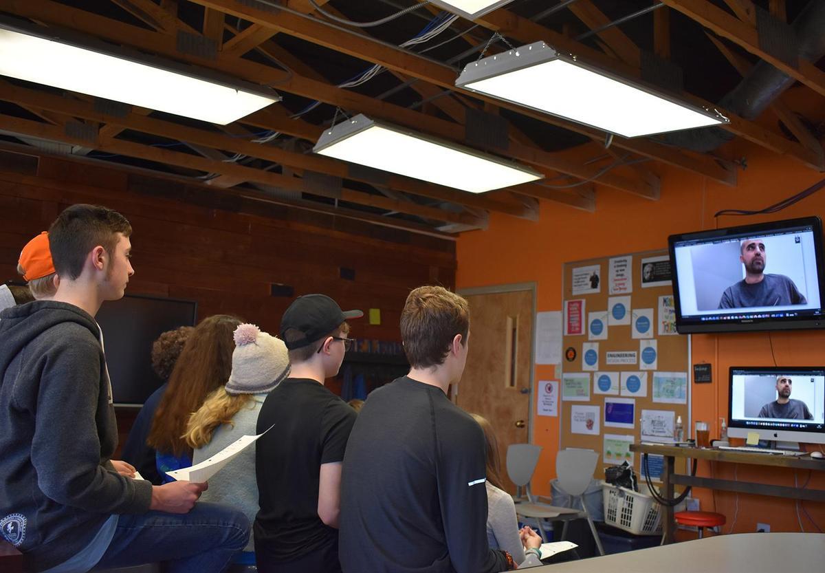 DareDevil Design students speak to Blue Origin engineer