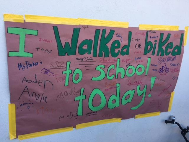 Walk to School sign