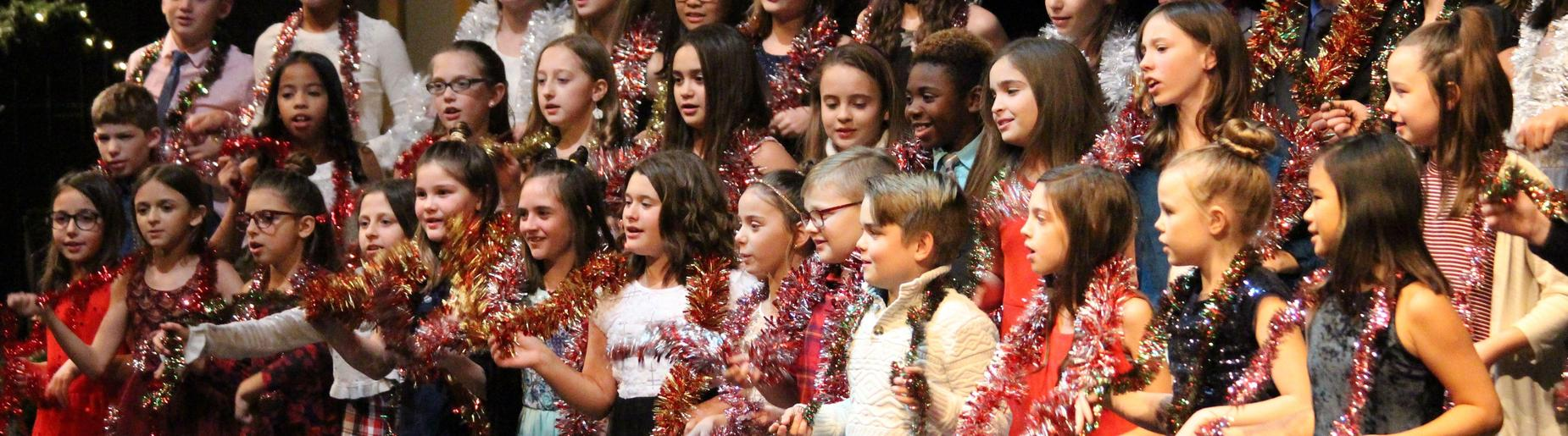 5th grade chorus sparkles in the Richard Mann Elementary Holiday Concert 2018