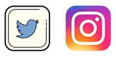 Twitter and Instagram icons