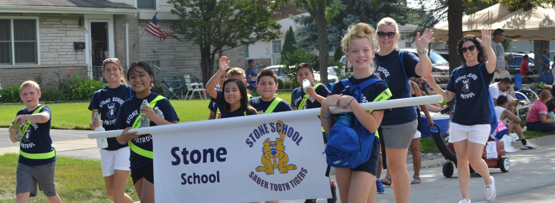 Stone in parade