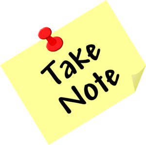 Take Note post-it graphic