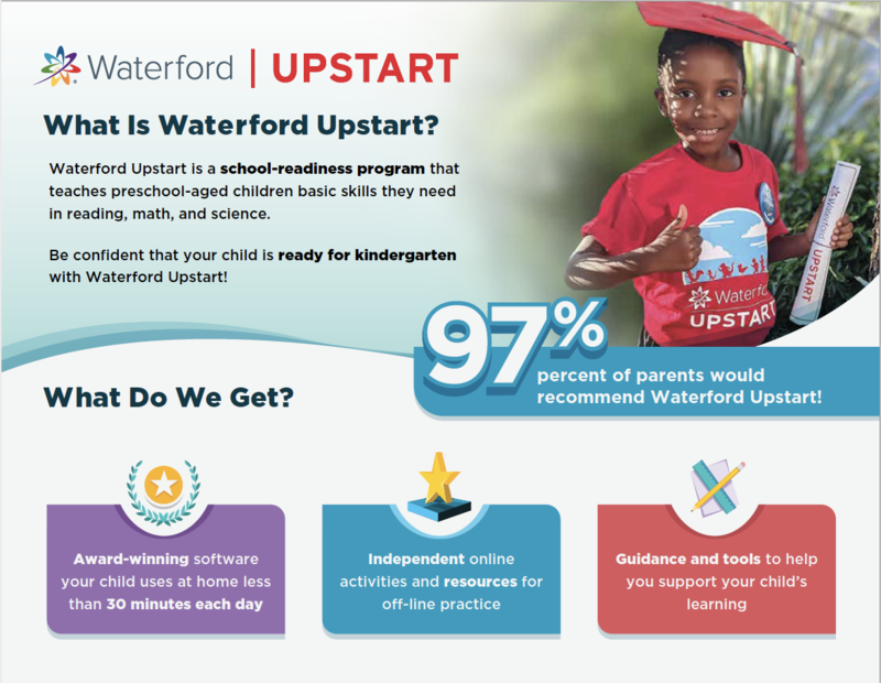 Waterford Upstart Program available for 4 Year-Olds Featured Photo