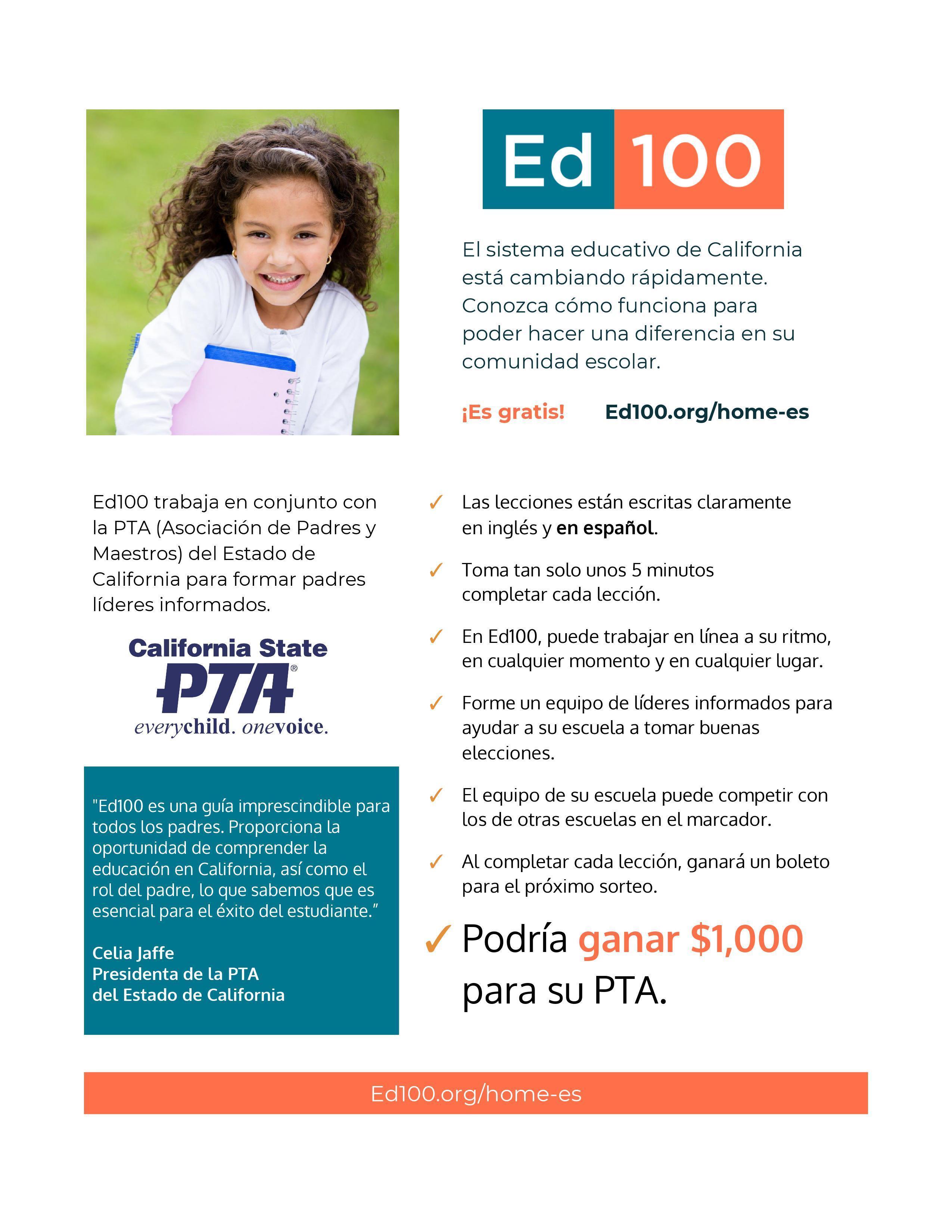 Ed 100 Spanish