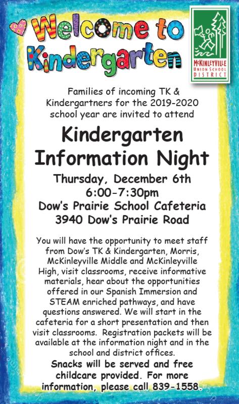 Kinder Information Night