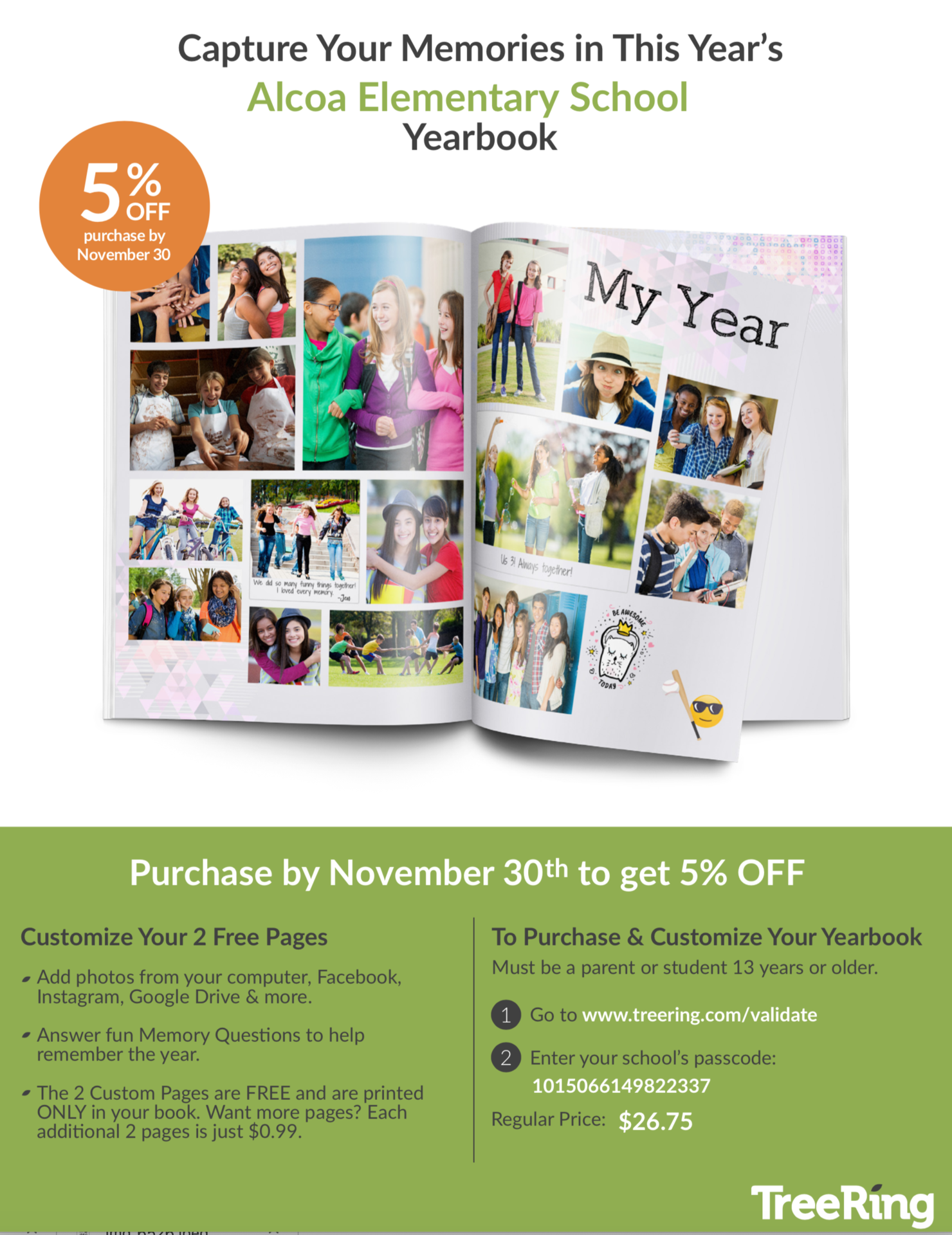 Save 5% when you order before November 30th