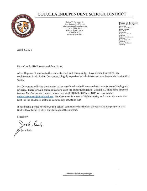 letter from dr seals