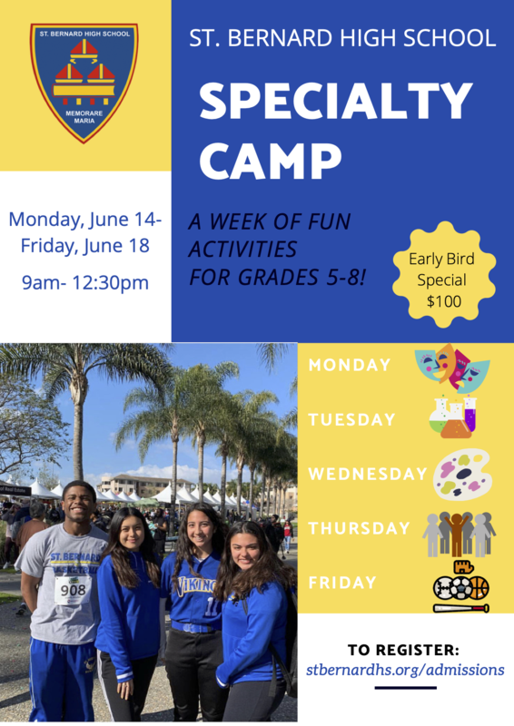 SBHS Summer Specialty Camp! Featured Photo