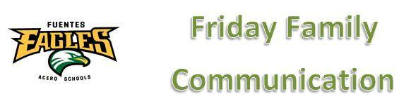 Friday Family Communication 2.22.19